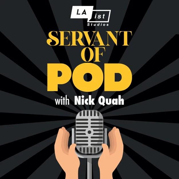 """Logo for the """"Servant of Pod"""" podcast"""